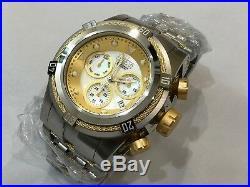 0822 Invicta Reserve 52mm Bolt Zeus Swiss Quartz Chronograph SS Bracelet Watch