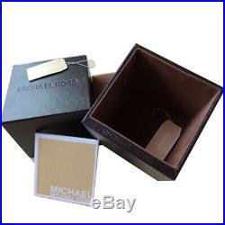 100% New Michael Kors Gold-Tone Bradshaw Navy Dial Acetate Men's Watch MK6268
