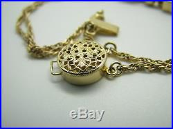 14K YELLOW GOLD Charm Slide Bracelet JOSHUA RGVS CHARMS Pearl Citrine GARNET RED