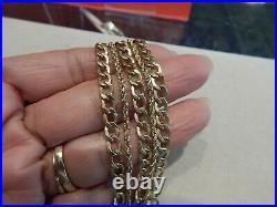 14K Yellow Gold 5-Strand Chain Layer Bracelet! Insert Clasp. 14.7 Grams! 7 1/2 L