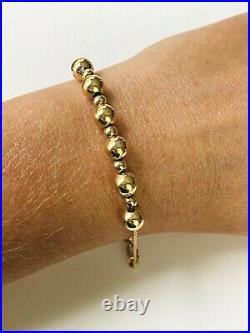 14K Yellow Gold Add A Bead Bracelet With Alternating Sized Beads