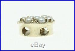 14K Yellow Gold KLJCI Richard Klein Slide Bracelet Charm Pearl Cluster N274