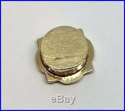 14K Yellow Gold Slide Bracelet Charm Peridot & Pearl KLJCI Richard Klein