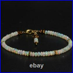 14k Solid Gold Ethiopian Welo Fire Opal Faceted Bead Bracelet ++More c shop