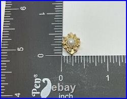 14k Yellow Gold Slide Bracelet Charm Pearl