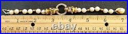 18KT Gold / Diamond & Ruby EyesPanther Heads Pearls BraceletWOW
