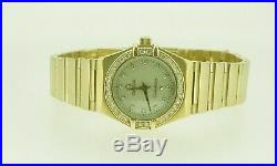 18K Yellow Gold Lady's Omega Constellation Diamond Mother of Pearl Watch