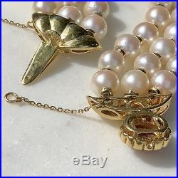 18K Yellow Gold Pearl Diamond Ruby Cabochon Clasp Ruby Bars Bracelet 6.75 Gift
