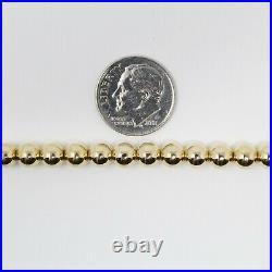 18 kt Yellow Gold Tiffany & Co. 5.5 mm Gold Bead Ball Bracelet 7 B2147