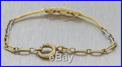 1920s Antique Art Deco Filigree 18k Yellow Gold Platinum Pearl Diamond Bracelet