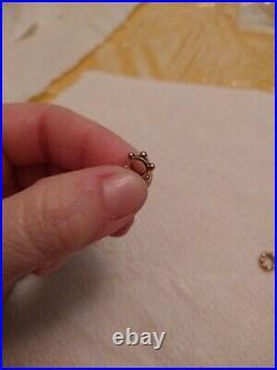 2 14k gold bracelet charm bead spacer pandora retired