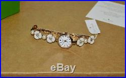 $325! New Kate Spade Daisy Metro Rose Gold Watch Pearl Crystal Bracelet Ksw1448