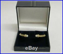 $3600/£2995 18k 18ct Yellow Gold David Yurman Cable Bracelet Diamonds & Pearls