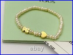 512781090 BABY Authentic Brand New Tous XXS Pearl Golden Bracelet