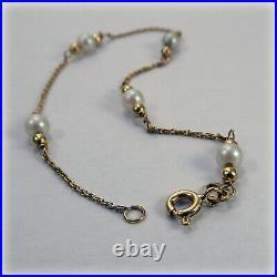 9ct Gold Cultured Pearl Bracelet