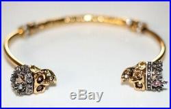 ALEXANDER MCQUEEN NWOT Royal Crown Pearl Crystal Skull Gold King Queen Bracelet