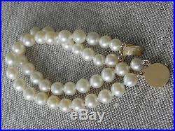 Akoya Pearl Double Strand 14k Gold Bracelet