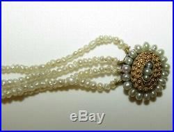 An Antique Georgian, Regency Seed Pearl Bracelet With 18ct Gold Cannetille Clasp