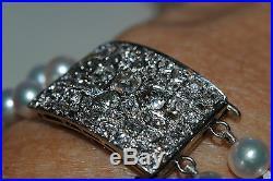 Antique EDWARDIAN PEARL DIAMOND Platinum on GOLD BRACELET