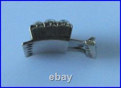 Antique Gold Clasp Multi Natural Grey Pearl Oblong Clasp (Necklace/Bracelet)