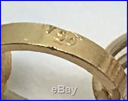 Antique Pearl 18k 14k Gold Link Charm Bracelet 10.7 Grams RDW