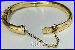 Antique Victorian 15CT Solid Gold & Seed Pearl Bangle 11.10g