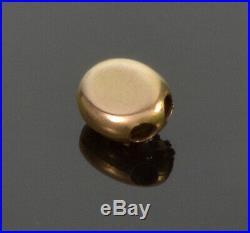 Antique Victorian Etruscan Revival 14k Gold Pearl Slide Charm For Bracelet
