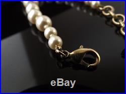 Auth Chanel CC Gold Bracelet Pearl Swarovski Brand New