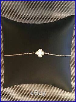 Auth Van Cleef & Arpels Sweet Alhambra Bracelet Mother of Pearl