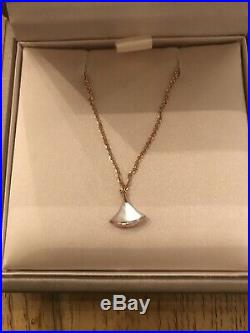 Authentic BVLGARI Divas' Dream 18K Rose Gold Mother Pearl Bracelet NEW