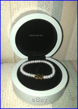 Authentic Tous Pearl and Yellow Gold Bear (elastic bracelet)