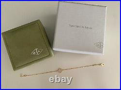 Authentic Van Cleef & Arpels Sweet Alhambra Mother Of Pearl Bracelet Yellow Gold
