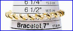 Authentic Yellow Gold 14KT Pearl Bangle Bracelet Men's Womens 7.60g 66-25