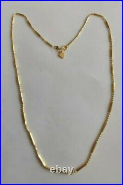 BEVERLY HILLS 14k Gold Bead & Bar Chain Necklace 2.5 Grams 1mm Wide