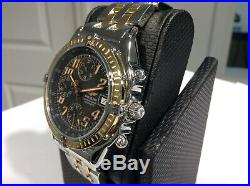 BREITLING Ref. D13050.1 CHRONOMAT VITESSE S/S & 18K Y/G 40mm Black Dial! MINT