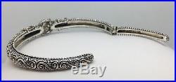 Barbara Bixby Qvc Sterling Silver & 18k Gold Cuff Bangle Bracelet Pearl Dangle