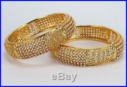 Bollywood 24Ct Gold Plated Indian Fashion Jewelry Bangle Bracelet Kada New Women