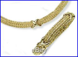 Bracelet In 14kt Gold Yellow+White Bead Multi-Strand with Box Clasp, 7.25