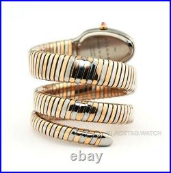 Bulgari Serpenti Tubogas Wristwatch 102099 Ladies Rose Gold Steel