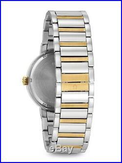 Bulova Men's Quartz Multi Dial Gold Tone Accents 40mm Watch 98C123