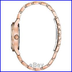 Bulova Women's 98L247 TurnStyle Crystal Accent Rose-Gold Tone Band 32.5mm Watch