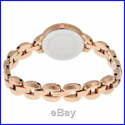 Bulova Women's Quartz Crystal Accents Rose Gold Tone Bracelet 21mm Watch 98L207