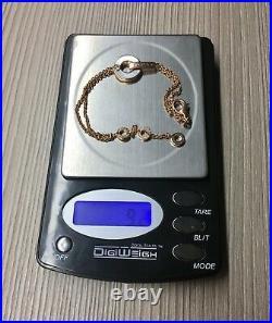 Bvlgari 18k Rose Gold Mother of Pearl & Diamond Bracelet 7.25