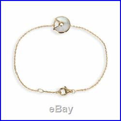 Cartier Amulette Diamond & Mother of Pearl Bracelet in 18K Yellow Gold 0.02 CTW