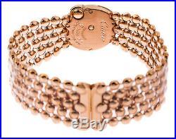 Cartier Ballon Blac WHT Pearl DIA Women 18KT Rose Gold Watch WE902057 New