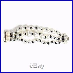 Chanel Pearl Bracelet 2016 New Beaded Multistrand Gold CC Logo Charm A16k