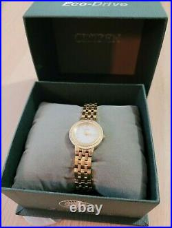 Citizen Eco-Drive EW9578-58D Watch Diamond Gold Mother of Pearl
