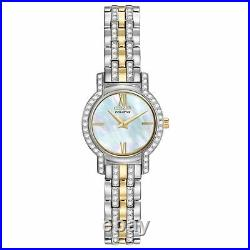 Citizen Eco-Drive EX1244-51D Women's Mother of Pearl Dial Two-Tone Dress Watch