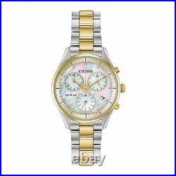Citizen Eco-Drive Women's Chronograph Mother of Pearl Dial 32mm Watch FB1444-56D