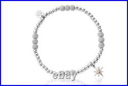 Clogau Silver & Rose Gold North Star Frosted Affinity Bead Bracelet 18cm £30 OFF